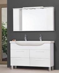 Fürdőszoba bútor Fali szekrény Alsó szekrény Komplett összeállítás Tükör Álló szekrény