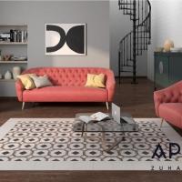 Pamesa Art cementhatású padlólap, fahatású padlóval