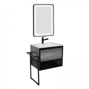 Sanotechnik SOHO 60 fürdőszobabútor szett. Alsóbútor lábbal, mosdóval, tükörrel.
