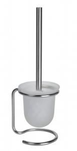 BEMETA OMEGA Álló WC kefetartó, üveg, fekete kefe, 110x400x130mm, króm (104113107)