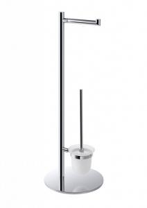 BEMETA OMEGA Álló WC kefe és papírtartó, 250x730x250mm, króm (104836012)