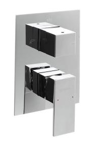 LATUS falsík alatti zuhany csaptelep három irányú, króm (1102-44)