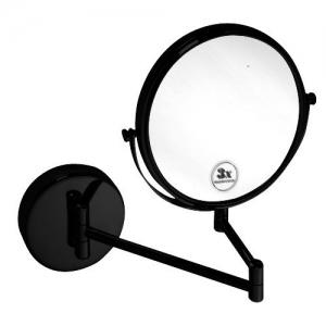 BEMETA DARK Kozmetikai tükör, 230x310x450mm, átm:190mm, fekete (112201510) (XB001)