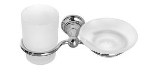 DIAMOND pohár és szappantartó, króm (1317-04)