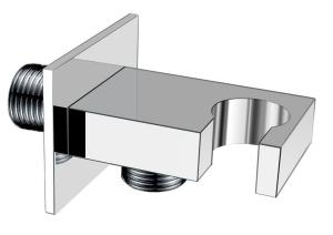 """Kézizuhany tartó, gégecső csatlakozóval 1/2"""", króm (AQ591)"""