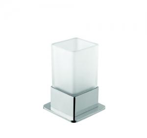 BEMETA PLAZA Álló pohártartó, üveg, 75x170x75mm, 200ml, króm (140110061)