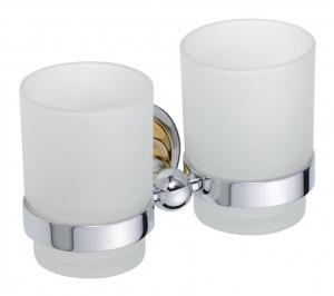 BEMETA RETRO Dupla pohártartó, 175x95x90mm, arany/króm (144210028)