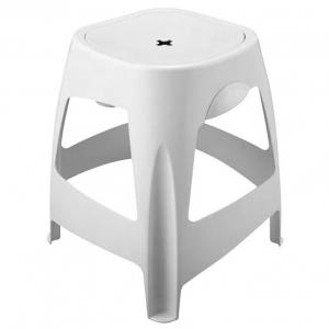 AQUALINE WHITE LINE fürdőszobai szék tárolóval, 390x440x390mm, ABS/fehér