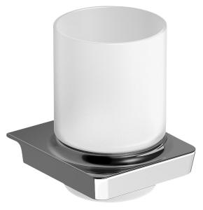 ZEN Pohártartó, tejüveg, króm (160990)