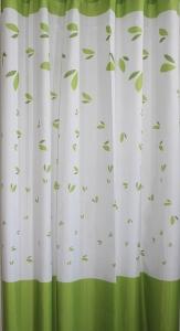 AQUALINE zuhanyfüggöny, 180x180cm, fehér/zöld (16477)