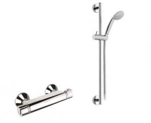 Mofém JUNIOR EVO termosztátos zuhanycsaptelep, állítható falirúddal