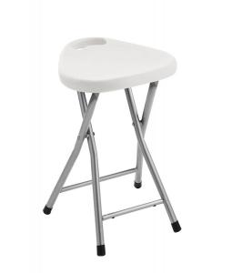 AQUALINE WHITE LINE fürdőszobai ülőke, 300x465x293mm, ABS/acél, fehér