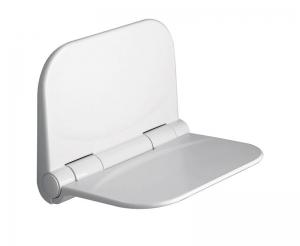 AQUALINE Felhajtható zuhanyülőke, 38x30cm, max120kg, termoplast, fehér