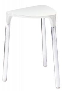 GEDY YANNIS fürdőszobai ülőke, 37x43,5x32,3 cm, fehér (217202)