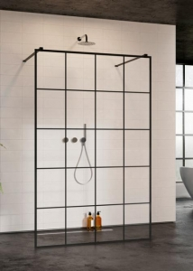 Radaway Modo New Black I Factory walk-in zuhanyfal