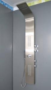 Balneum Nella rozsdamentes szálcsiszolt termosztátos zuhanypanel