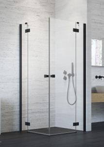 Radaway-Essenza New Black KDD szögletes fekete zuhanykabin,több méretben