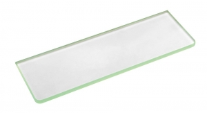 Üvegpolc, polctartó nélkül, tejüveg, 600x100x8mm (22482)