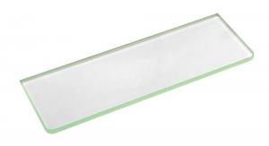 Üvegpolc, polctartó nélkül, tejüveg, 1000x100x8mm (22486)