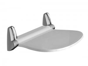 SOUND ülőke zuhanyzóba 38,5x35,4cm, felhajtható, fehér/króm