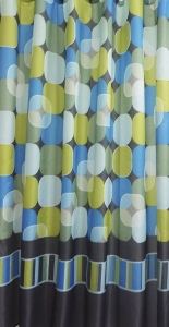 AQUALINE zuhanyfüggöny, 180x200cm, színes körök (23034)