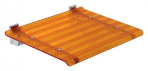 LEO lehajtható ülőke zuhanyzóba, 40x31cm, narancssárga