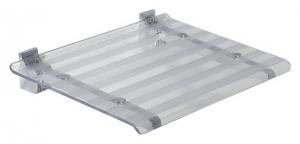 LEO lehajtható ülőke zuhanyzóba, 40x31cm, transzparent