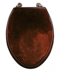 Sanotechnik STAR WC-ülőke, sötét fa 29400