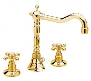 REITANO ANTEA mosdócsaptelep, 3 részes, arany (3225ZL)