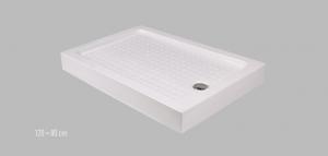 Wellis aszimmetrikus magas zuhanyálca 120x80/80x120 cm +szifon