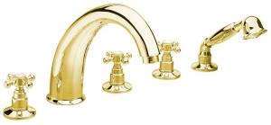 REITANO ANTEA Kádperemre szerelhető csaptelep, öt részes, arany (3315)