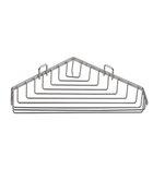 AQUALINE KRÓM LINE szappantartó, 190x30x150mm, króm (37003)