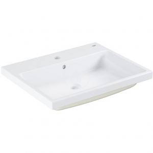 Grohe Cube 60 pultba építhető mosdó túlfolyóval, 1db nyitott csaplyukkal