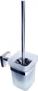 Roltechnik QUATTRO WC kefe tartó, fali, üveg