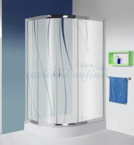 Sanplast kpl -L/P -KP4/TX5b aszimmetrikus zuhanykabin szett 2db eltolható ajtóval