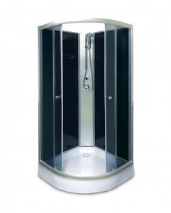 Aqualife Opal 508 C  80x80 cm-es fekete zuhanykabin hátfallal