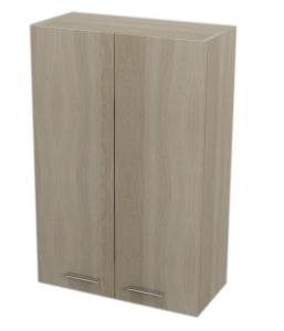 AQUALINE ZOJA/KERAMIA FRESH felső szekrény, 50x76x23cm, platina tölgy (51304)