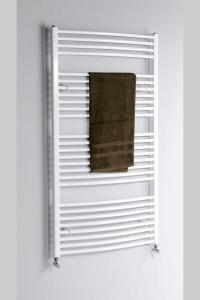 AQUALINE Fürdőszobai radiátor, 600x1690 mm, íves fehér (ILO66)
