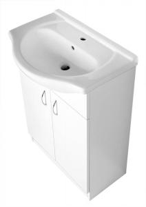 AQUALINE SIMPLEX ECO 60 mosdótartó szekrény, mosdóval, 58,5x83,5x30,7cm, matt fehér (SIME600)