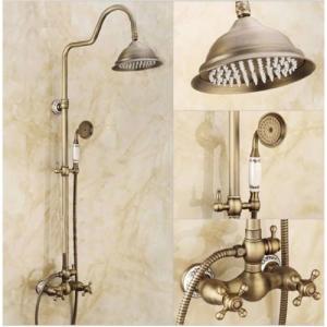 Balneum Vintage antikolt zuhanyrendszer felső esőztetővel,kézitussal