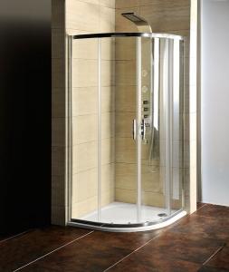 G. Sigma íves zuhanykabin zuhanytálcával, átlátszó üveggel