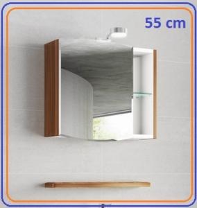Tboss ELEGANT Fürdőszoba bútor Tükrös felső szekrény, piperepolccal-55,65,75 cm