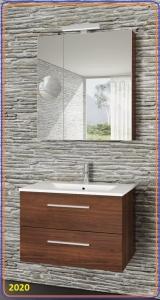Tboss MILANO Fürdőszoba bútor SZETT -60,75,90,120 cm (Mirror Box Recta felső tükrös elemmel, lábak nélkül)