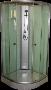 Aqualife Opal 508 C 80x80 cm-es  fehér tuskabin hátfallal