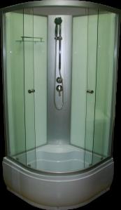 Aqualife Opal 509 C fehér hátfalas zuhanykabin mély tálcával
