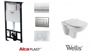 AlcaPlast / Wellis BELLA wc szett, nyomólap nélkül