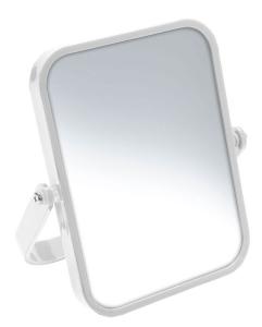 AQUALINE WHITE LINE ELENA kétoldalas kozmetikai tükör, 5X nagyítás, 155x190x18mm, ABS/fehér (CO2022)