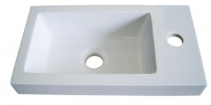 Sanotechnik Leon öntött márvány mosdó, ráépíthető