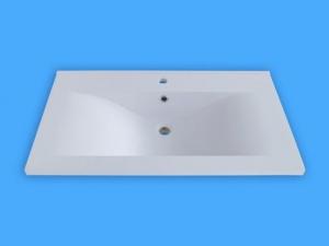 Sanotechnik Öntött márvány mosdó, ráépíthető 90,5x16,5x51,5 cm