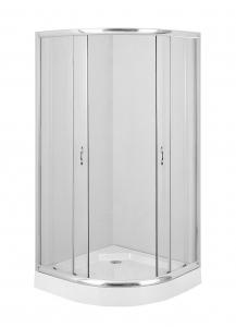 Deante Funika íves zuhanykabin, átlátszó üveggel, króm profillal